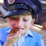 Ein Kindergeburtstag unter dem Motto Polizei
